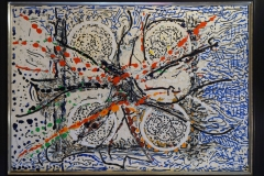 Jean-Paul Riopelle, Austrada,1985, Oil and mixed media on canvas, 42 x 30 in