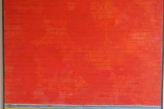 David Sorensen, 'Ocean Red', 2010, Huile sur toile , 48 x 48 in