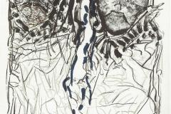 J.P. Riopelle 'Affiche avant la Lettre no.142' 1974 77.5 x 56.5 cm. Litho Orig. en couleurs