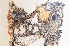 J.P. Riopelle Affiche avant la Lettre no.185, 1980 55 x 68 cm. Litho Orig. en couleurs