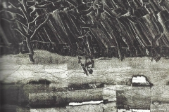J.P. Riopelle 'Fondation' 1973-74, 39 x 40 cm. Eau Forte Orig. en noir