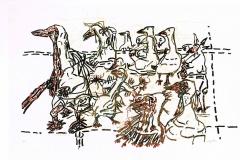 Jean-Paul Riopelle, Les Oiseaux, 1984 Lithograph, 24 x 38 in.